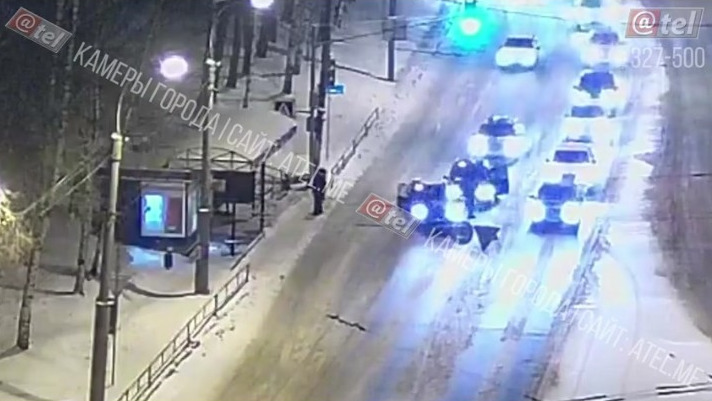 В Рыбинске иномарка сбила пенсионерку: видео