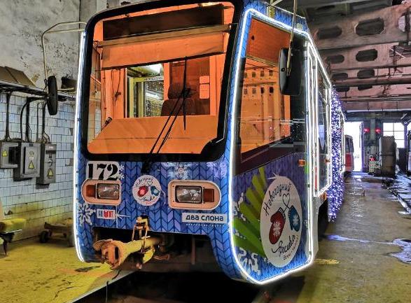В Ярославле запускают второй новогодний трамвай
