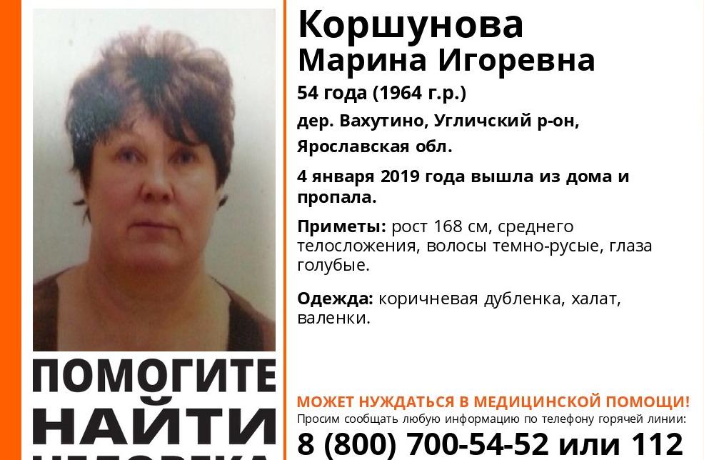 В Ярославской области пропала женщина