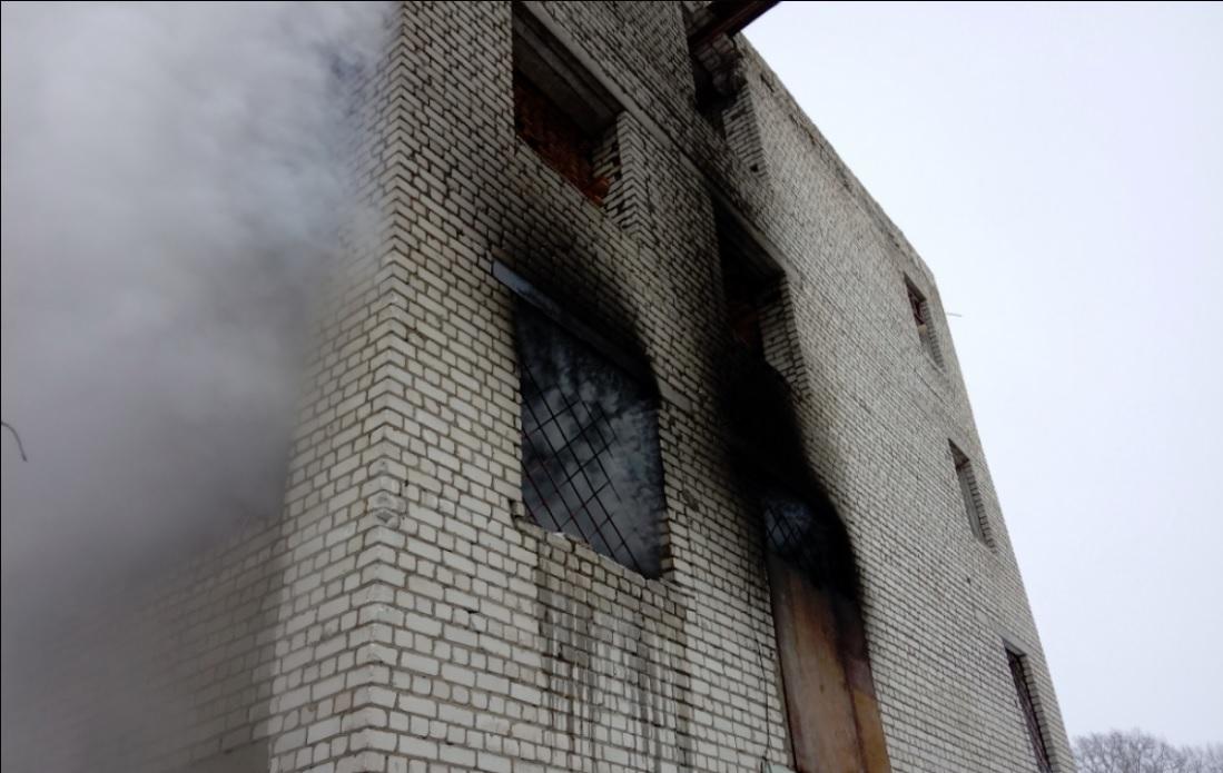 В Рыбинске горела пилорама