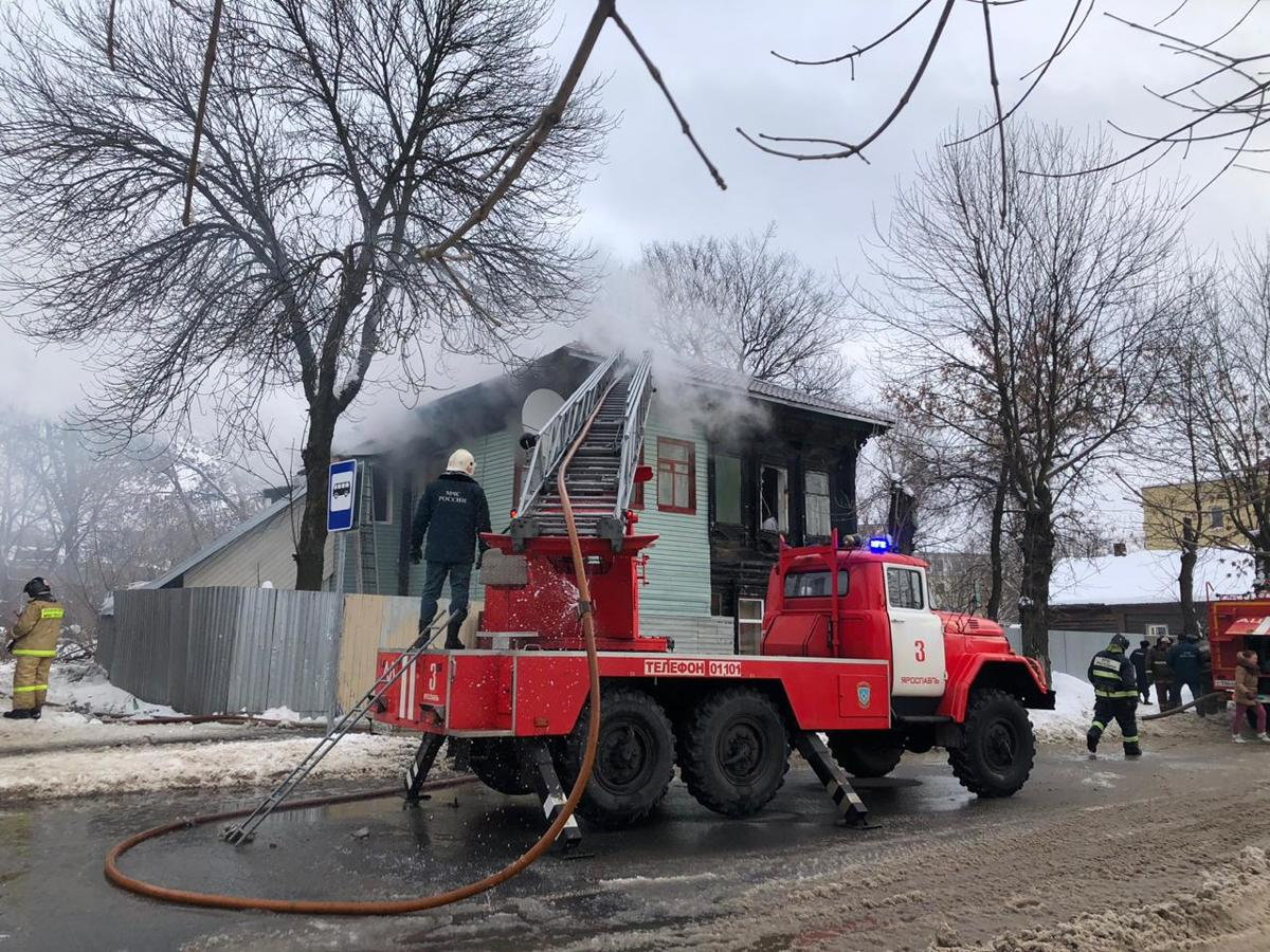 Подозреваемый в поджоге дома в Ярославле заключен под стражу
