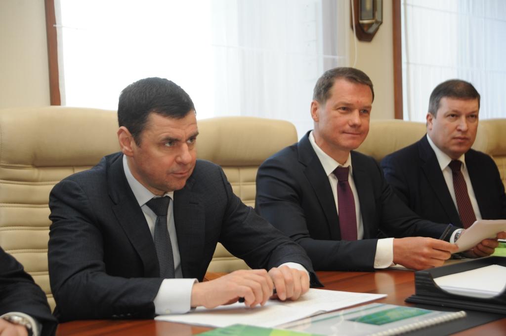 Губернатор и председатель Среднерусского банка ПАО «Сбербанк» обсудили вопросы развития сотрудничества