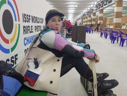 Ярославна Анастасия Галашина победила в олимпийском упражнении по стрельбе из пневматической винтовки