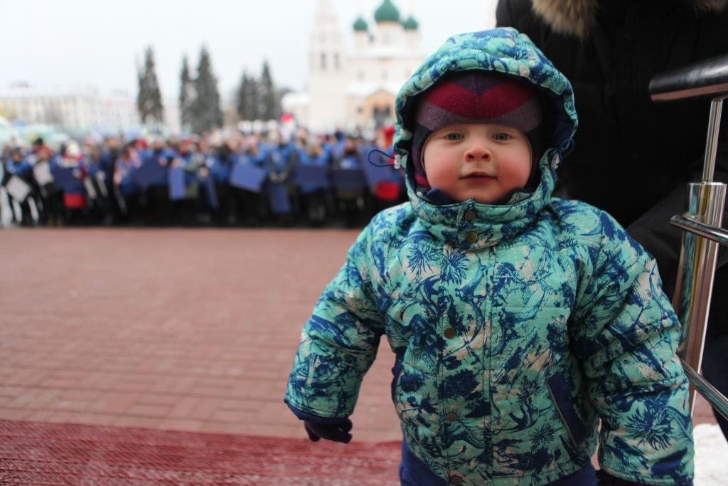 В Ярославле в честь перехода на цифровое ТВ устроили красочный флешмоб