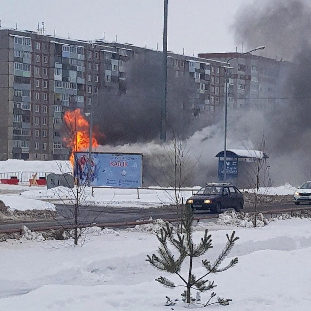 В Рыбинске сгорел прокат коньков