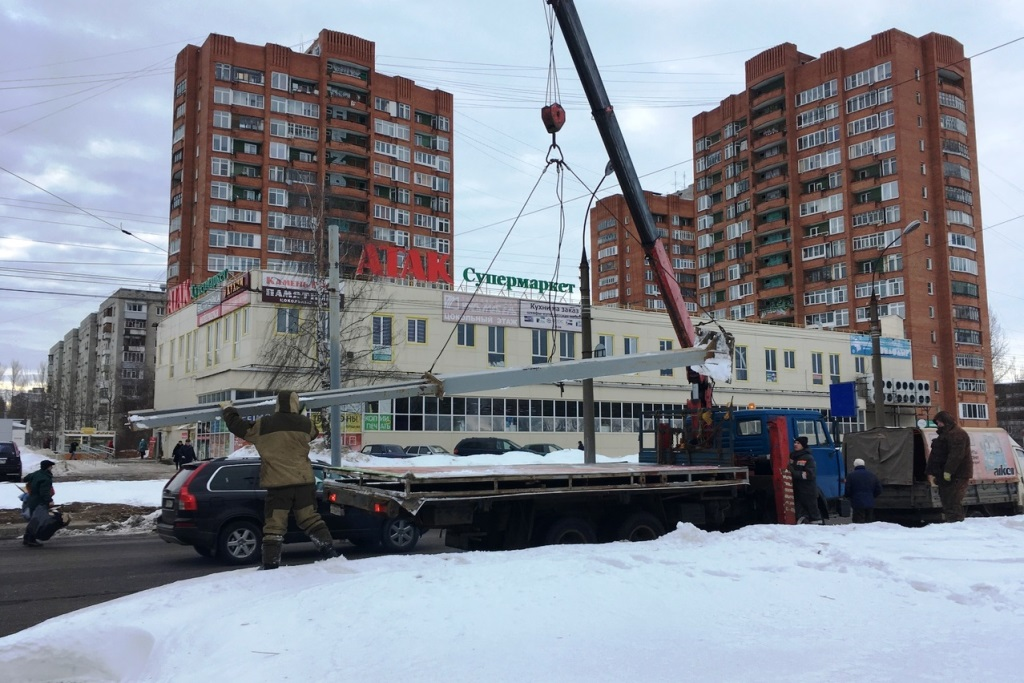 С начала года в Ярославской области демонтировано 60 незаконных рекламных конструкций