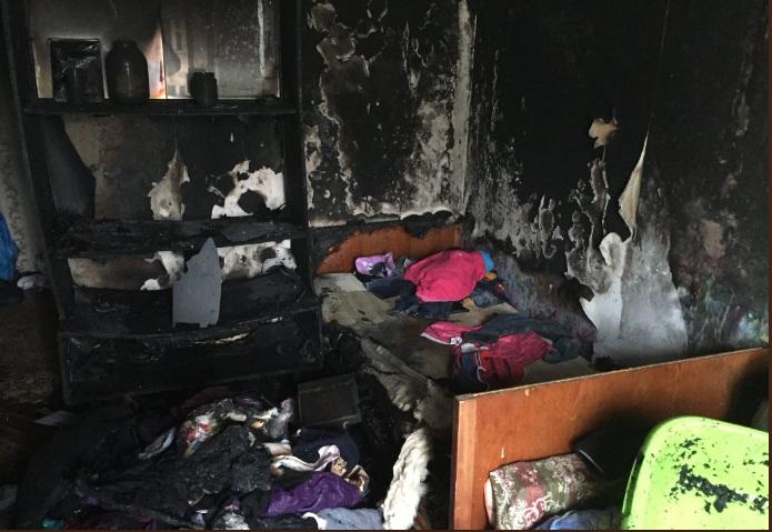 В пожаре в Ярославской области пострадала женщина