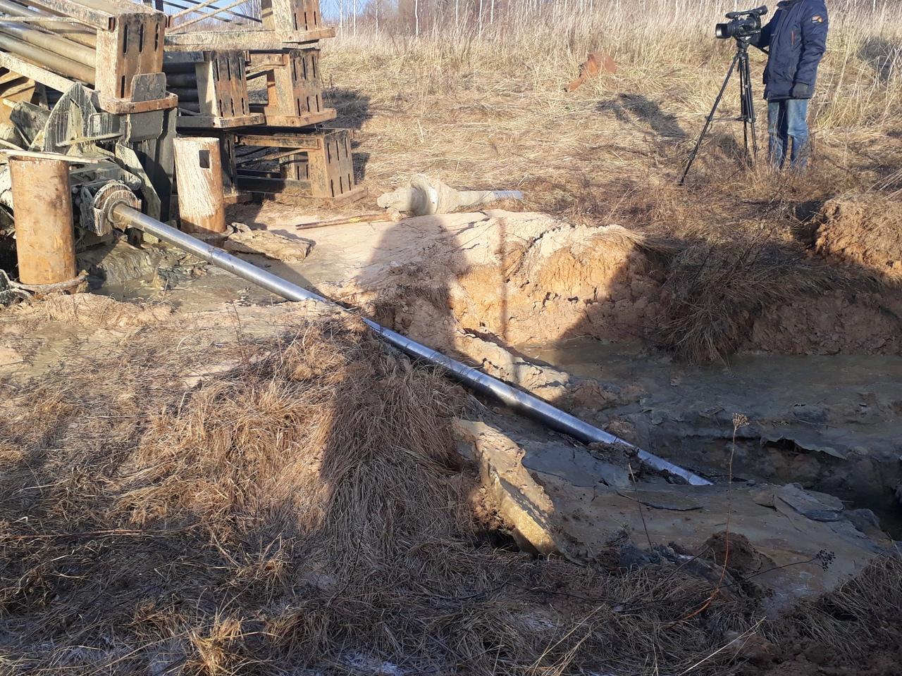 В Рыбинске основные работы на аварийном участке коллектора завершены