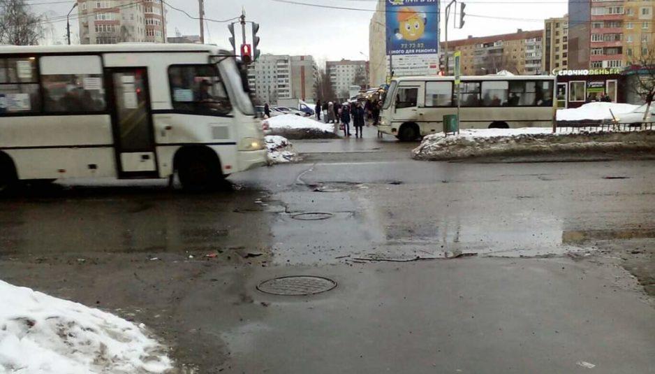 По обращениям ярославцев мэрия отремонтировала опасный участок дороги