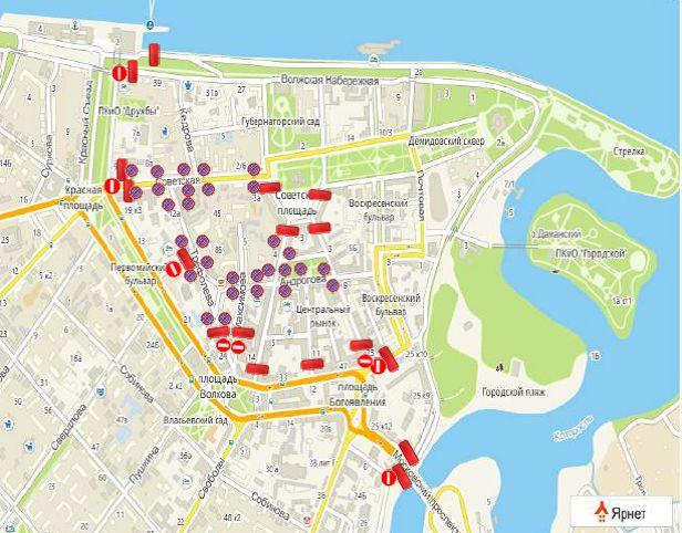 В Ярославле из-за масленичных гуляний перекроют центр города: схема
