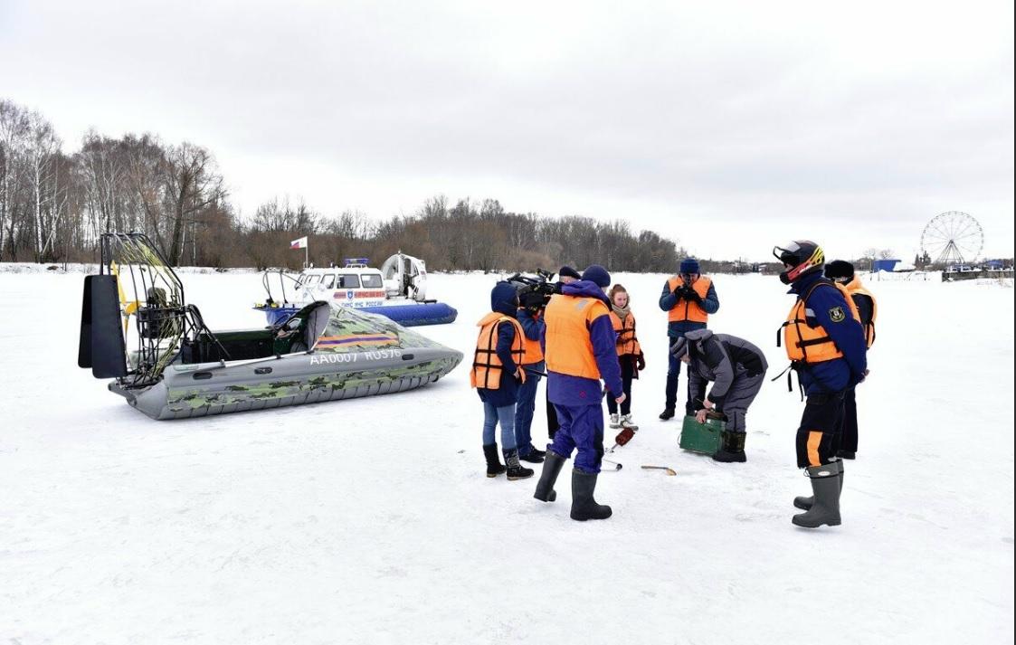 В Ярославле ловили нарушителей запрета выхода на лед