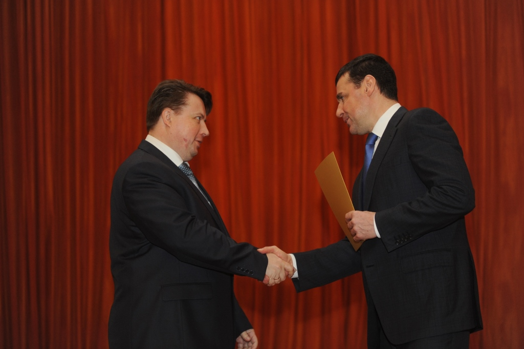 Губернатор Дмитрий Миронов вручил награды работникам отрасли ЖКХ
