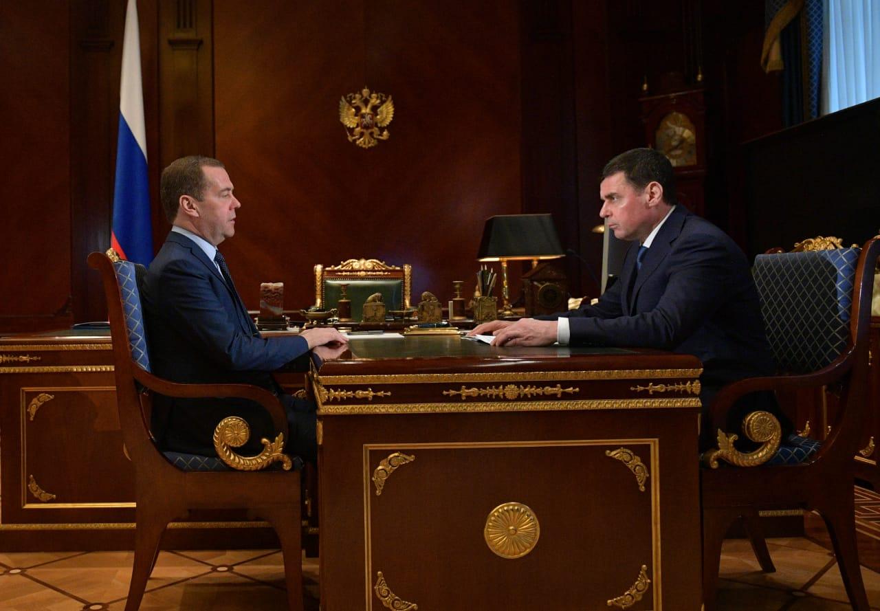 Дмитрий Медведев и Дмитрий Миронов обсудили вопросы социально-экономического развития Ярославской области