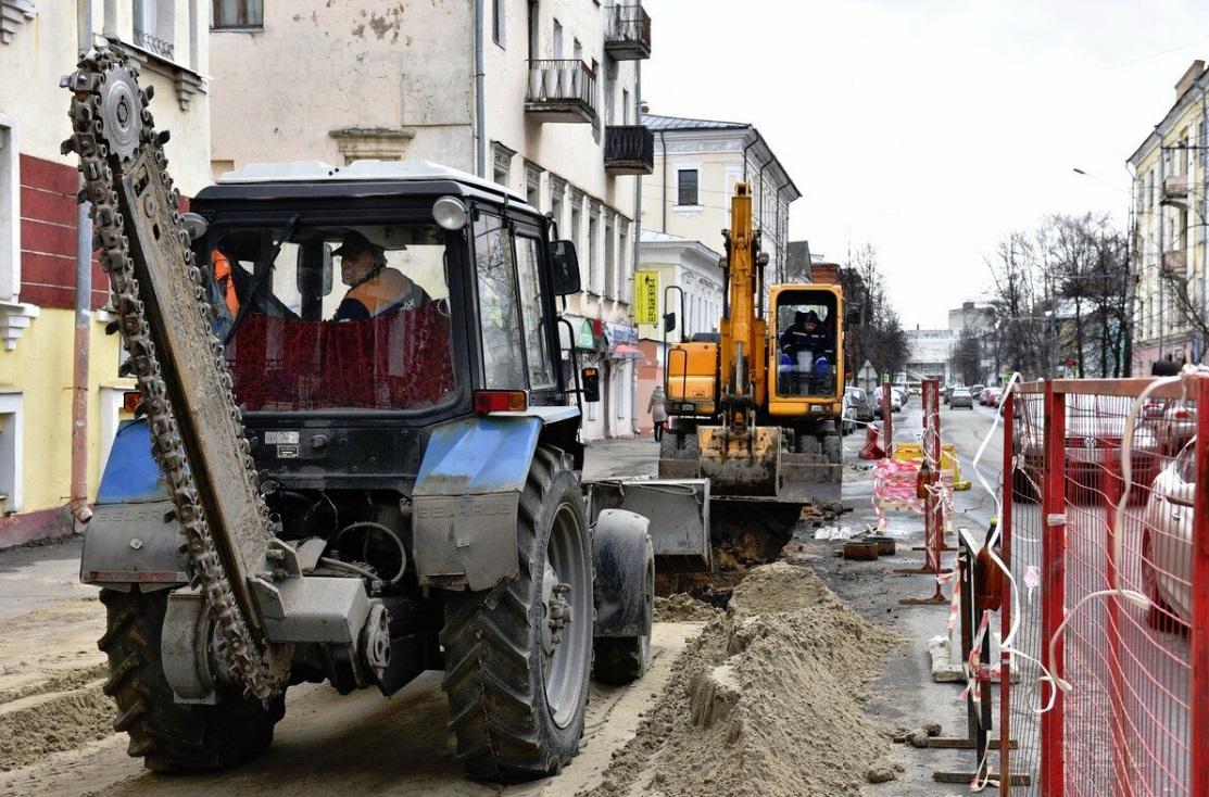 В Ярославле рабочие перекопали улицу Республиканскую: причина