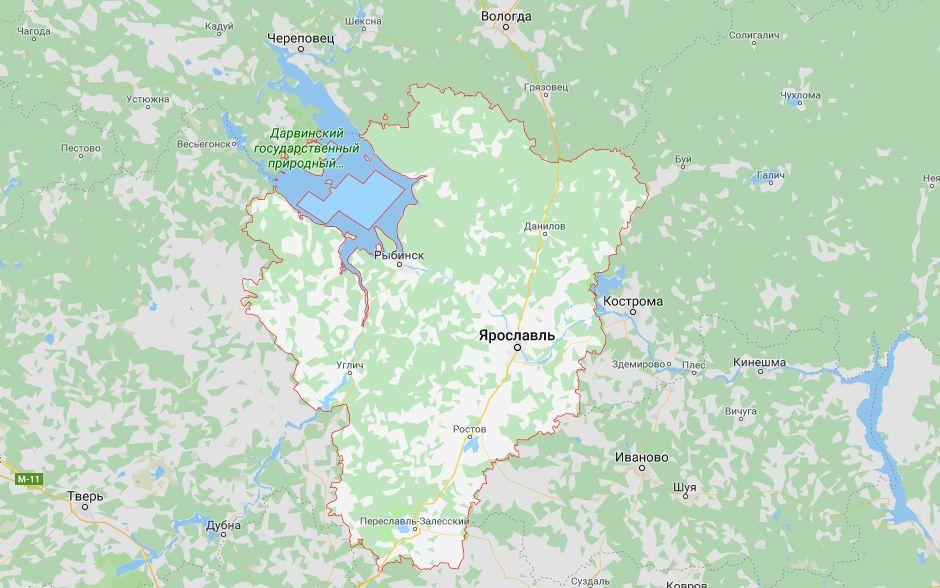 Актуализируются сведения о границах Ярославской области со смежными регионами