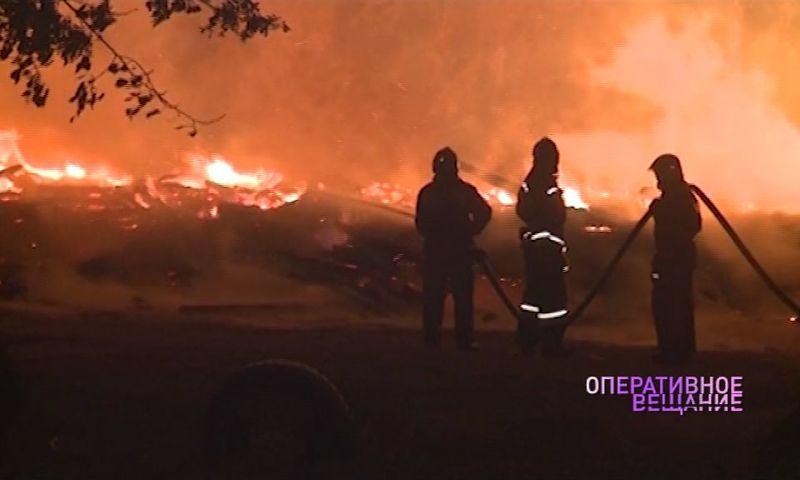 В Ярославле произошел большой пожар: погиб мужчина