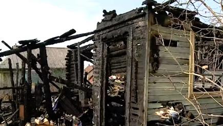 В Рыбинске при пожаре пострадала женщина