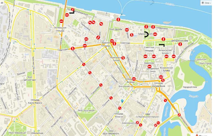 Стало известно, какие улицы перекроют в Ярославле 9 Мая: схема