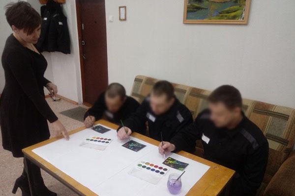 В колонии в Ярославской области заключенные проходят арт-терапию