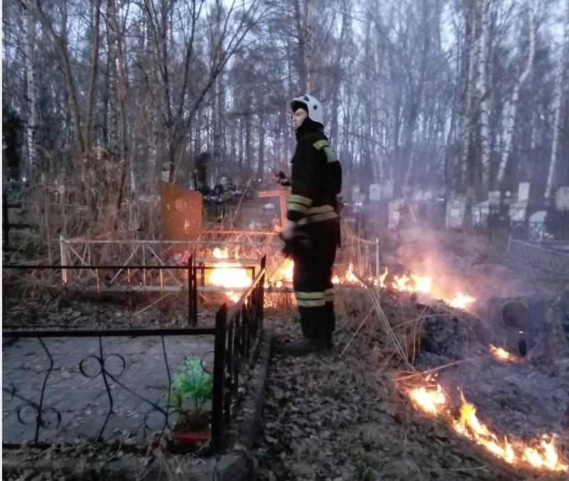 У Толгского монастыря в Ярославле горело кладбище