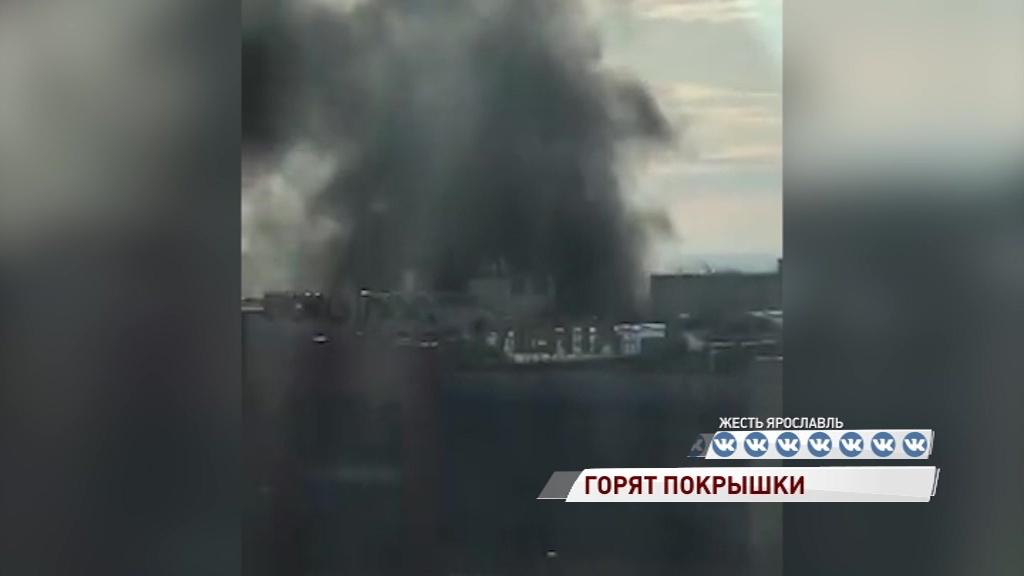 Крупный пожар в Ярославле: столб черного дыма был виден из разных районов