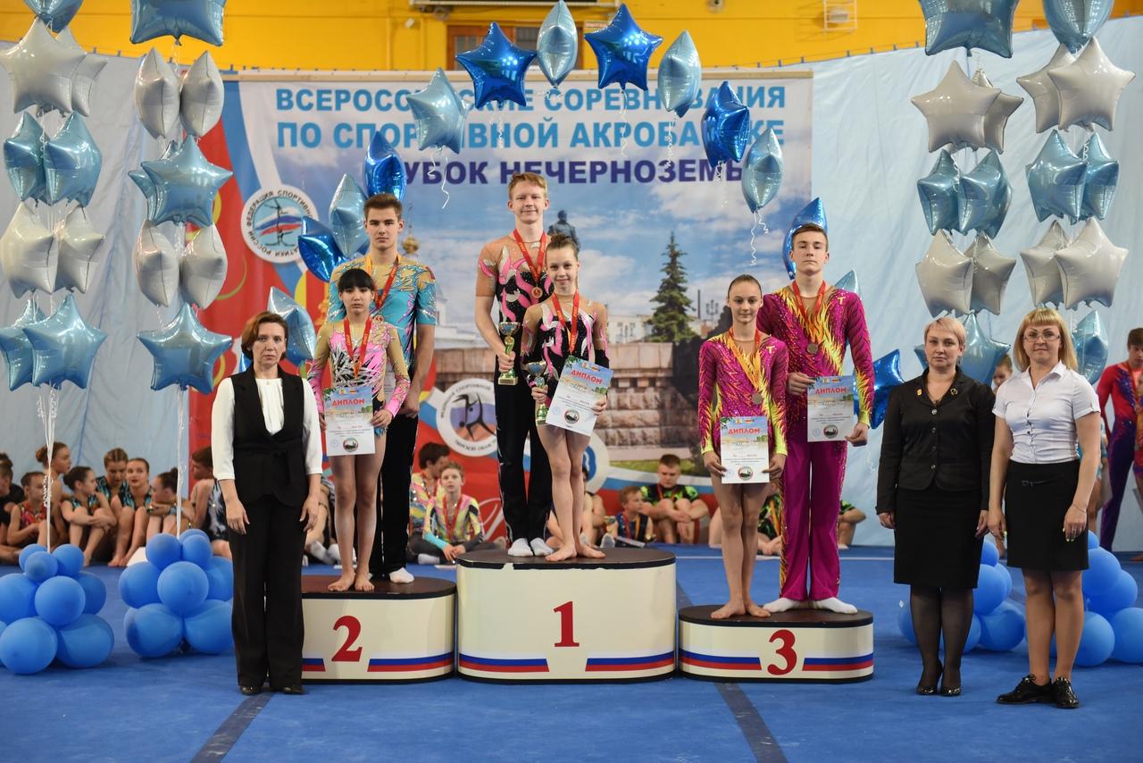 Рыбинские акробаты завоевали золото, серебро и бронзу на всероссийских соревнованиях