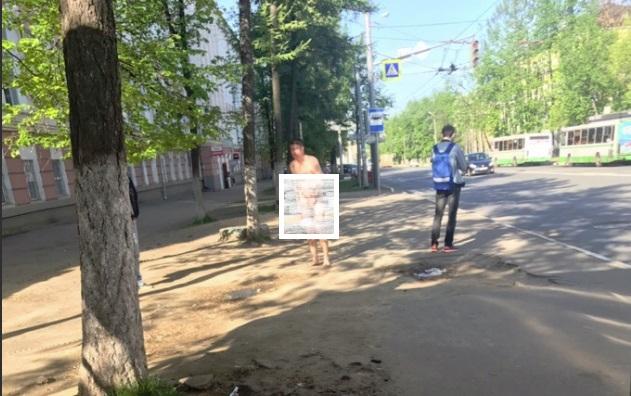 Обнаженный мужчина прогуливался по Ярославлю