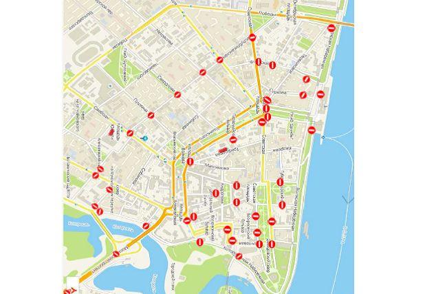 В День города перекроют центр Ярославля: схема