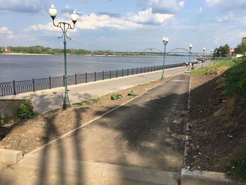 Власти отреагировали на жалобы в соцсетях и переделают пандус на набережной в Рыбинске
