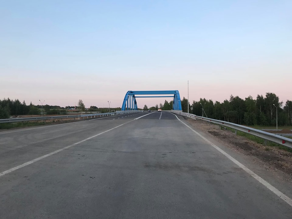 В Ярославском районе на трассе М8 открыли отремонтированный путепровод