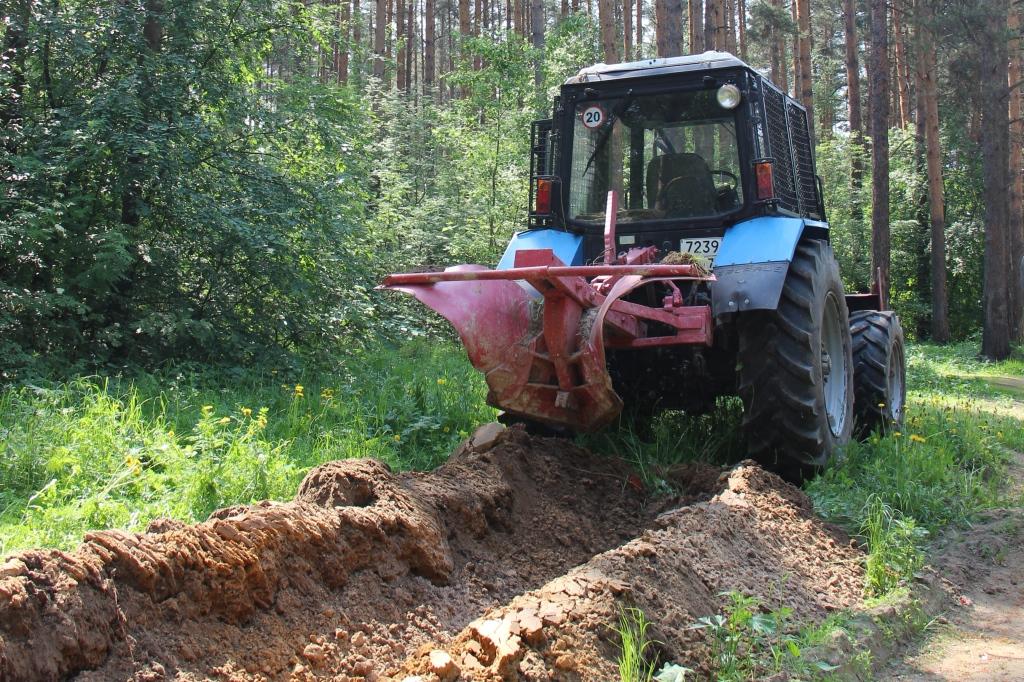 Для предотвращения лесных пожаров обустроено более 250 километров минерализованных полос