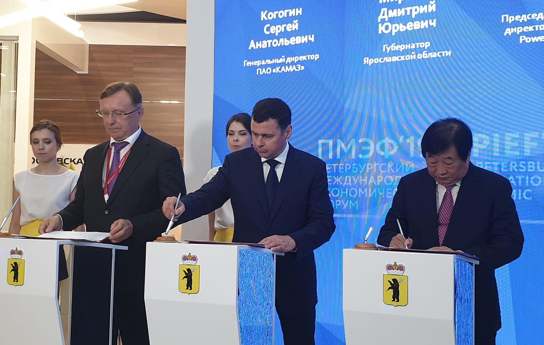 КамАЗ и китайская компания создадут совместное предприятие в Ярославской области
