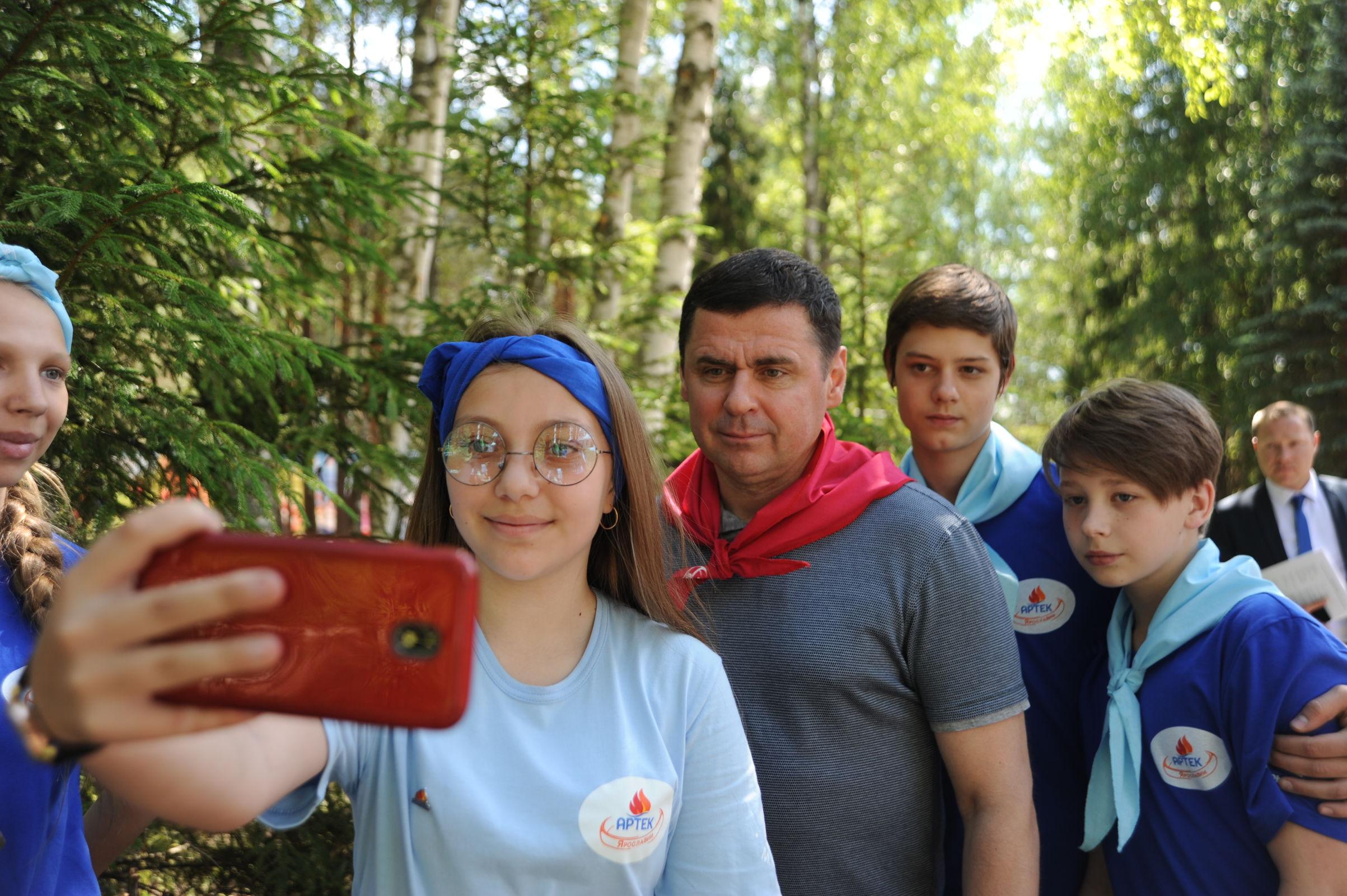 Дмитрий Миронов в загородном лагере дал старт проекту «Артек Ярославии»