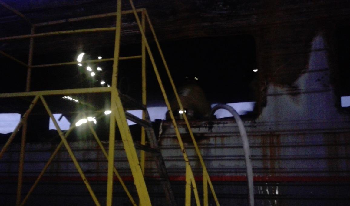 В Рыбинске сгорел железнодорожный вагон
