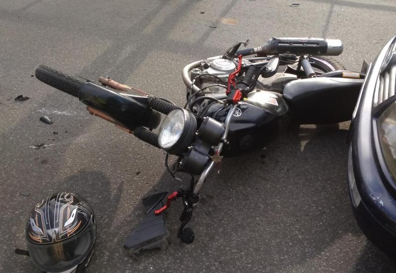 В тройном ДТП в Рыбинске пострадал молодой мотоциклист