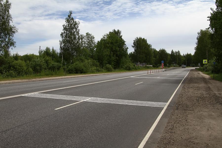 На окружной дороге в Рыбинске впервые нанесли шумовую разметку