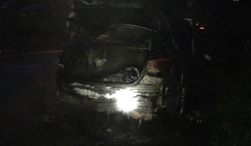 В Рыбинске ночью сгорела иномарка