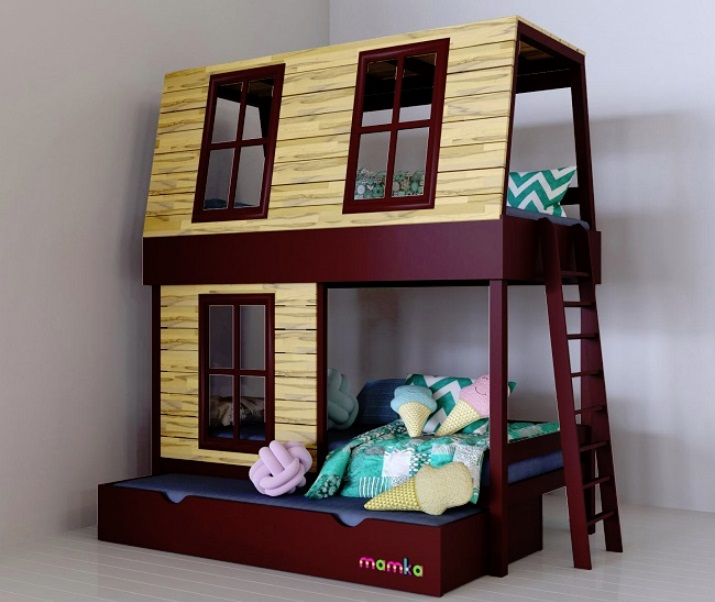 Кровати-домики: для гармоничного обустройства детской комнаты