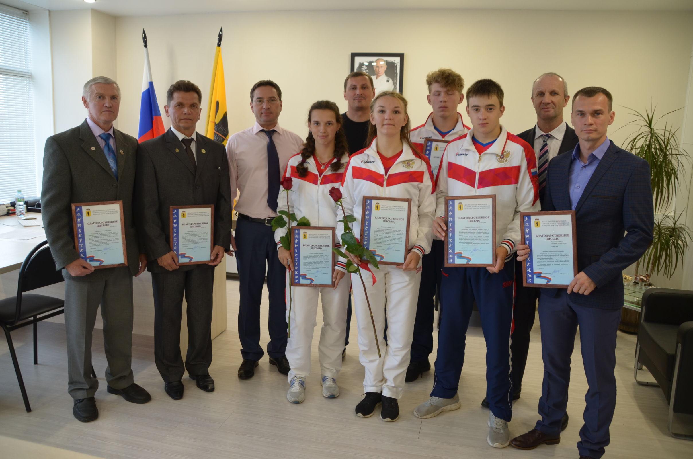 В Ярославле состоялось чествование сборной региона по гиревому спорту
