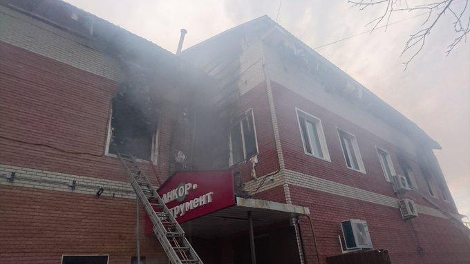 В Ярославской области горел торговый центр