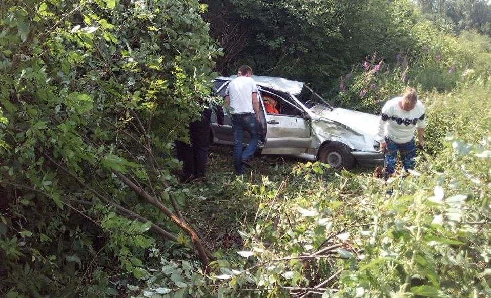 В Ярославской области ВАЗ вылетел в кювет: пострадали двое мужчин и ребенок