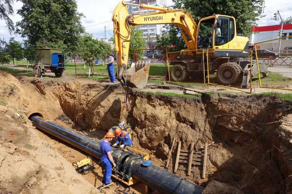 В Ярославле завершен ремонт водопровода под дорогами, которые отремонтируют по федеральной программе