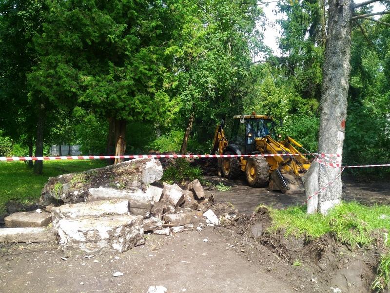 В Рыбинске в рамках проекта «Решаем вместе!» начали благоустраивать парк в микрорайоне Волжский
