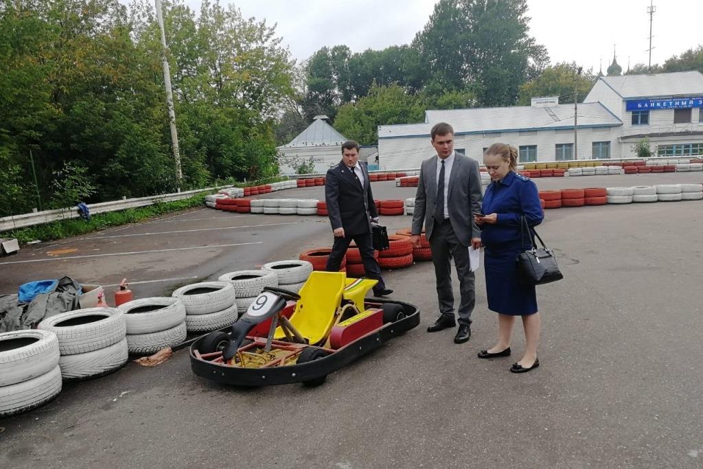 В Ярославле выявлены нарушения требований безопасности при эксплуатации аттракционов «Картинг»