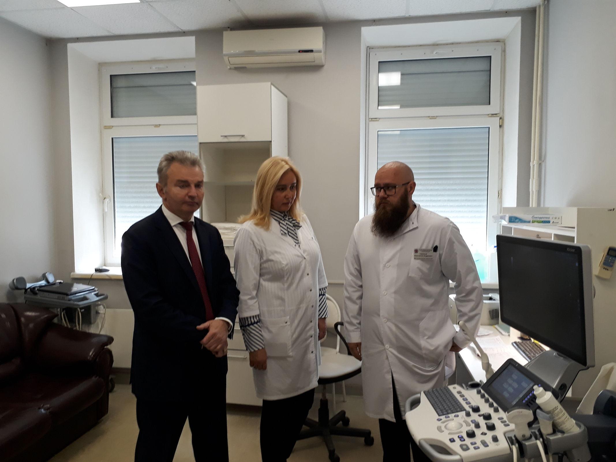 Больница имени Соловьева получила новый ультразвуковой аппарат экспертного класса