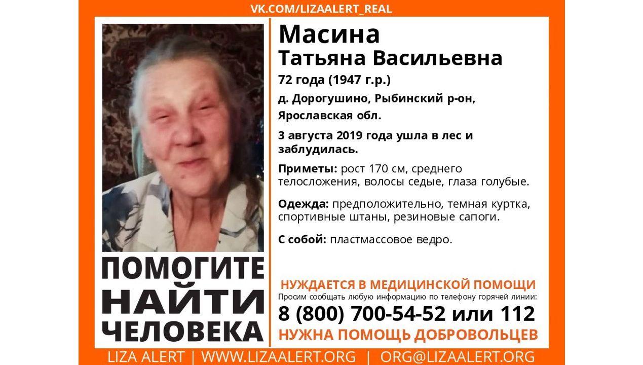 В Рыбинском районе в лесу третий день ищут 72-летнюю женщину