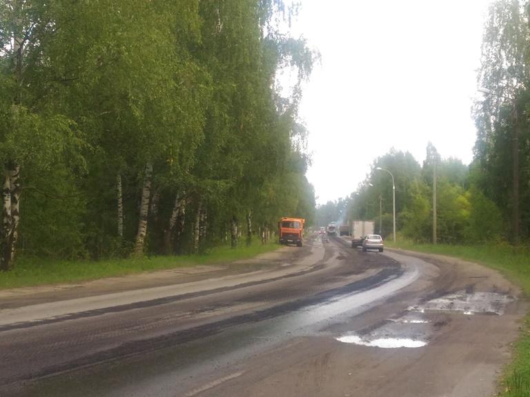 В Рыбинске начался ремонт Переборского тракта