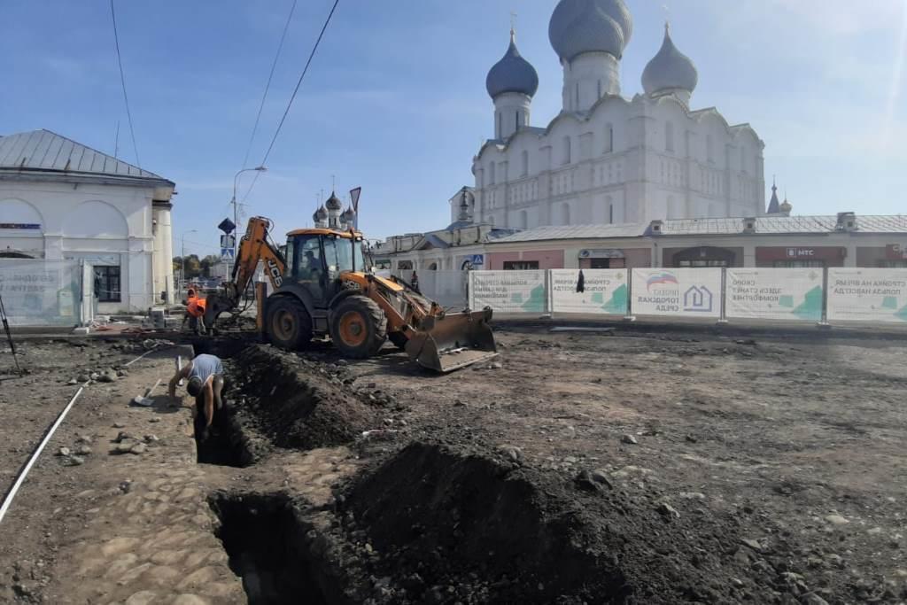 Благоустройство Соборной площади в Ростове планируют завершить к концу октября