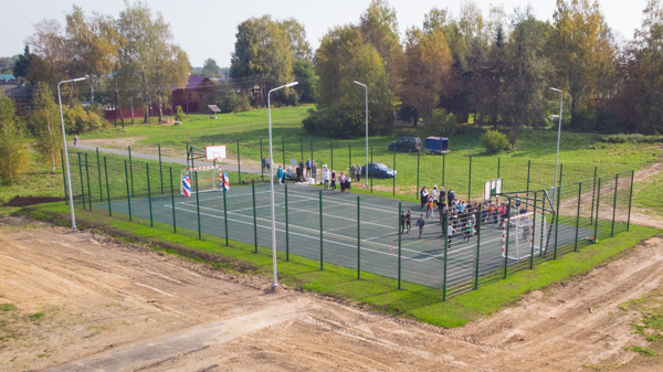 Благодаря проекту «Решаем вместе!» в селе Татищев Погост появилась новая спортплощадка