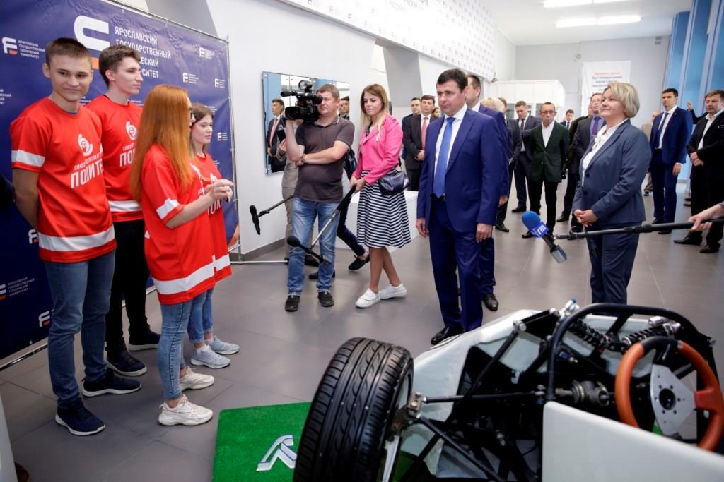 Дмитрий Миронов принял участие в открытии инновационного образовательного центра на базе ЯГТУ